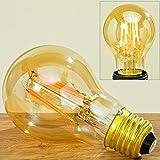 LED Glühlampe Glühbirne gold warmes Licht dimmbar (Birne E27 H11cm)