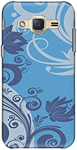 The Racoon Grip printed designer hard back mobile phone case cover for Samsung Galaxy J2. (Flowy Flor)