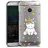 DeinDesign HTC One Mini 2 Hülle Case Handyhülle Einhorn Regenbogen Transparent