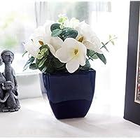 Store Indya, Gettato a mano Rotella delle terraglie Studio Blue ceramica Planter