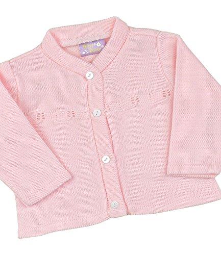 BabyPrem Baby Kleidung StrickJäckchen Pullover Gestrickt Mädchen Klassisch 68-80cm 6-12 MONATE ROSA (Mädchen Gestrickt Pullover)