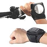 Kunzite, schwarze Armbänder mit Rückspiegel/Rückstrahler für Fahhrad- und Motorradfahrer