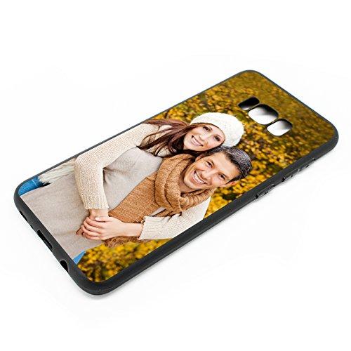 PixiPrints Personalisierte Premium Foto-Handyhülle für Samsung Galaxy-Serie selbst gestalten mit Foto bedrucken, Hülle:TPU-Silikon/Schwarz, Handy:Samsung Galaxy S9