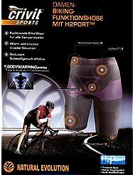 Mujer bicicleta Función Pantalones con h2porttm gr: M 40/42negro/morado Función Bike Wear Ropa Interior