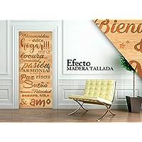 Vinilo para Puerta   Stickers Door   Pegatina Puerta   Madera Tallada (204x83)
