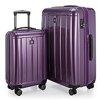 HAUPTSTADTKOFFER - Kotti - Set of 2 Hard-side Luggages Trolley Hardside Suitcase Expandable, TSA, (S & L), Purple glossy