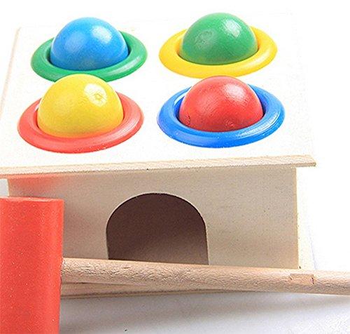 Drawihi Klopfen Tisch Klopfen Tisch Hammer Box Piling Tisch Lehrmittel 1-2-3 Jahre alt frühen Kindheit Bildung intellektuelle Spielzeug