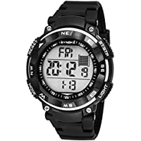 Sport Orologio da Polso per Uomo Orologio Digitale con Calendario Allarme Cronometro e Luminoso Impermeabile fino a 50 Metri - Nero