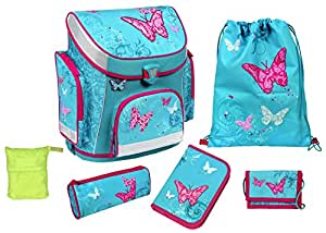 scooli schulranzen set campus plus butterfly 2016 6 teilig koffer rucks cke taschen. Black Bedroom Furniture Sets. Home Design Ideas