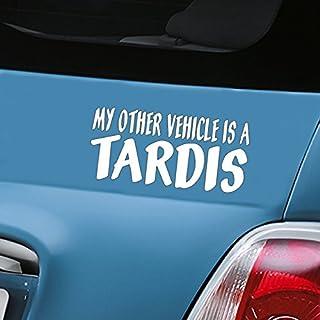 My anderen Fahrzeug ist eine Tardis weiß Auto Aufkleber Aufkleber Vinyl Fenster Aufkleber–(One P & P Laden Egal wie viele Artikel, die Sie kaufen aerialballs.)