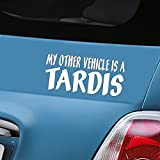 My Other Vehicle is a Tardis White Car Decal Doctor Who Vinyl Window Sticker - ONLY ONE P&P charge per 'AERIALBALLS' order! Save money by buying 2 or more of our many designs.