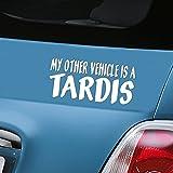 Aerialballs My other vehicle is a Tardis bianco auto adesivo in vinile adesivo–(One P & P ricarica indipendentemente dal numero di articoli you Buy from