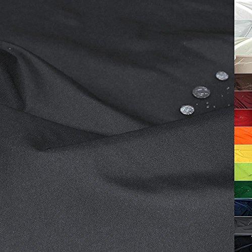 TOLKO Sonnenschutz Nylon Planen-Stoff Meterware - 180 cm Breit, Wasserdicht, Reißfest und Blickdicht als Universal Outdoorstoff zum Nähen (Dunkelgrau)
