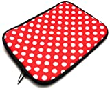 Emartbuy® Xoro TelePAD 735Q 7 Zoll Tablet Polka Dots Rot /