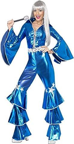 Smiffys, Damen 70er Tanz-Traum Kostüm, Schnür-Jumpsuit, Größe: M, 41159