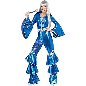 Smiffys 1970s Dancing Dream Costume,Blue, Medium