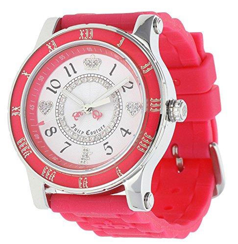 Juicy Couture 1900456 - Reloj para mujeres, correa de goma color rosa