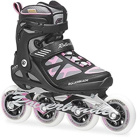 Rollerblade Inlineskate Fitness Recreational Macroblade 90 W - Patines en línea, color negro / rosa, talla