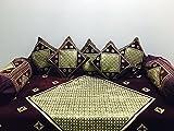 Reliable Trends CHENILLE Modern Diwan Set (Set Of 8 Pieces)- PURPLE