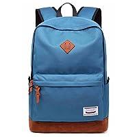 School College Backpack Bookbag Laptop Rucksack Travel Bag Casual Daypack with USB Charging Port Fits 15.6 Inch Laptop (Sky Blue)