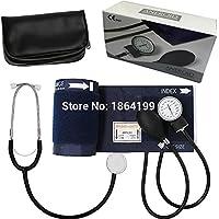 Clásico monitor de presión arterial profesional para adultos, con brazo y esfigmomanómetro aneroide y manómetro.