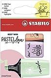 Textmarker - STABILO BOSS MINI Pastellove - 3er Pack -