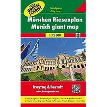 Freytag Berndt Stadtpläne, München Riesenplan, mit extra großer Schrift, Spiralbindung - Maßstab 1:12.500