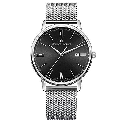 Maurice Lacroix Herren Analog Quarz Uhr mit Edelstahl Armband EL1118-SS002-310-1