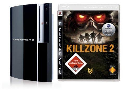 PlayStation 3 - Konsole 80 GB inkl. Dual Shock 3 Wireless Controller + Killzone 2 (Ps3 80 Gb Konsole)