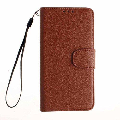 Leather Case Cover Custodia per Motorola Moto G (3. Generation)