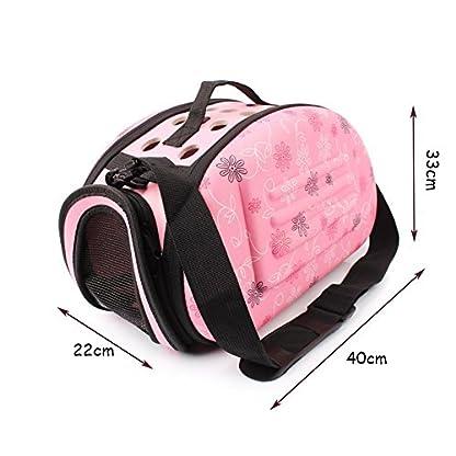 GossipBoy EVA Folding Washable Outdoor Pet Crossbody Handbag Tote for Dog Cat Comfort Portable Breathable Travel Medium… 2