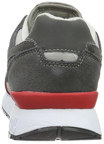 KangaROOS Omnicoil Ii, Baskets Basses Mixte Adulte, Einheitsgröße Multicolore - Mehrfarbig (dk grey/flame red 266)