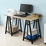 SoBuy FWT32-N Höhenverstellbarer Schreibtisch Sitz-Stehtisch Computerschreibtisch Bürotisch Arbeitstisch Höhe:72-117cm - 7