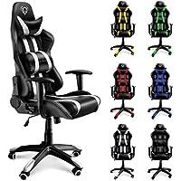 Diablo X-One silla de gaming silla de oficino, silla de escritorio (negro-blanco)