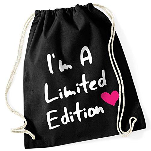 I'm A Limited Edition <3 / Pinkes Herz / 100% Baumwoll Turnbeutel mit Aufdruck und Motiv / Unisize, Onesize, Unisex / Ideales Geschenk / Rucksack, Beutel, Jutetasch, Jutebeutel / Hipster (Gruppen 3 Lustige Kostüme Von Für)