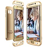 CE-Link für Samsung Galaxy S6 Edge Hülle Hardcase 3 in 1 Handyhülle Ultra Dünn 360 Grad Full Body Schutz Schutzhülle Bumper - Gold