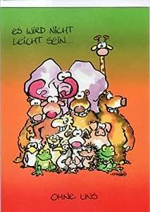 Witzige Maxi Abschiedskarte A4 Du verlässt uns