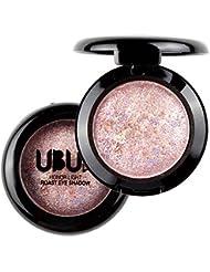 Unisky Eye Shadow Single Baked Powder Palette Metallic Shimmer Eyeshadow Cosmetic Makeup