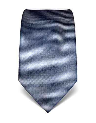 Vincenzo Boretti Herren Krawatte aus reiner Seide, strukturiert,graublau
