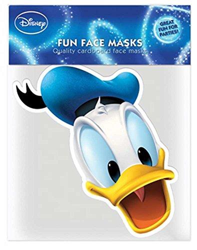 - Papp Maske Papp Maske, aus hochwertigem Glanzkarton mit Augenlöchern, Gummiband - Größe ca. 30x20 cm (Donald Duck Kostüm Kostüm)