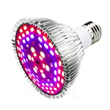 LED Pflanzenlampe 50W E27 78 LEDs Vollspektrum Pflanzenlicht Led Grow Light Lampe für Zimmerpflanzen, Garten Gewächshaus Blüte, Blumen und Gemüse