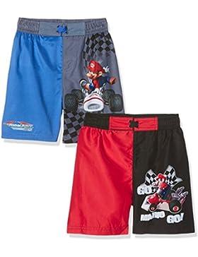 FABTASTICS Super Mario, Bañador para Niños (Pack de 2)