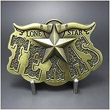 hotrodspirit - boucle de ceinture country etoile texas doré lone star mixt 20fb9427199