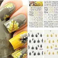 maltonyo171pieza colorido pluma de pavo real Nail Art Tips Uñas Decal Pegatinas