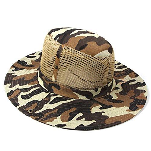 Wenquan,Sombrero de Camuflaje de Color para Acampar al Aire Libre Boonie Hat(Color:Camuflaje,Size:Tipo...
