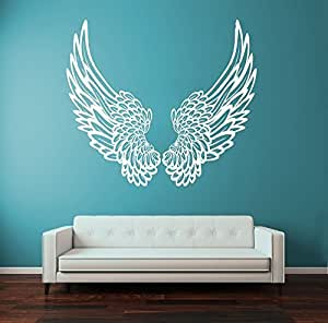 Big wings angel god guardian bird removable for Angel wings wall decoration uk