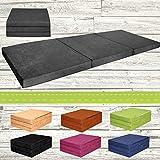 Colchón supletorio plegable, cama auxiliar de invitados (195x 80x 9cm), color gris