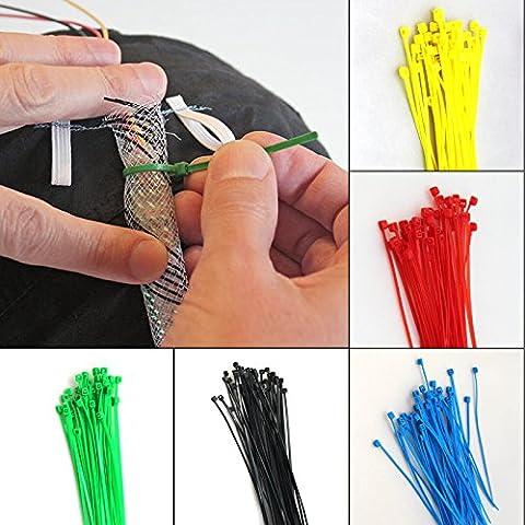 Lot de 500et 1000attaches Câble plastique Attache sécurisée pour de nombreux emplois, Pack of 500