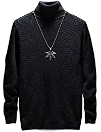 YOUTHUP Pull Col Roulé Homme Hiver Slim Coton Sweat en Maille Casual  Tricoté Manches Longues Col d68733bff319