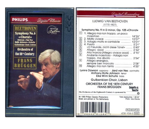 Beethoven - Symphony No.9 - Orchestra of the 18th Century DCC Cassette Tape (Philips Cassette Tape)